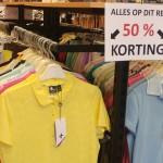 Tennis- en golf-kleding  50% KORTING !