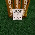 Head tennisballen, 3 x 4 ballen voor € 25,=